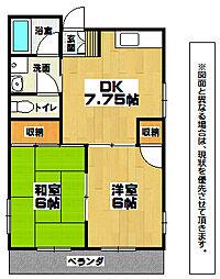 福岡県北九州市門司区下馬寄の賃貸マンションの間取り
