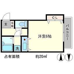 熊野道谷口マンション[1階]の間取り