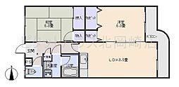 マンション大磯[3階]の間取り