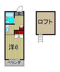 アベニュー文蔵[2階]の間取り
