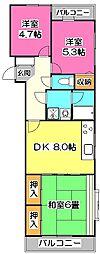 アーガスヒルズ2[2階]の間取り