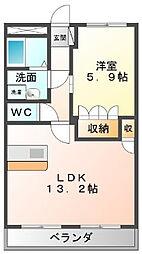 神奈川県綾瀬市深谷中1丁目の賃貸マンションの間取り