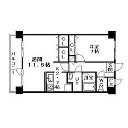 北海道札幌市中央区北一条西18丁目の賃貸マンションの間取り