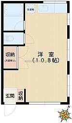 コーポオオタキ[202号室]の間取り