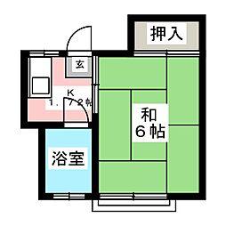 大和荘[2階]の間取り