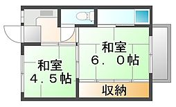 広島県府中市中須町の賃貸マンションの間取り