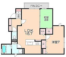 D-room春日町[1階]の間取り