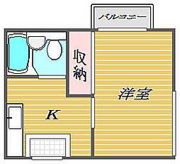 東京都北区東十条6丁目の賃貸マンションの間取り