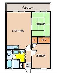 宮崎県宮崎市清武町新町2丁目の賃貸アパートの間取り