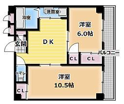 ロイヤルハイツ三喜[2階]の間取り