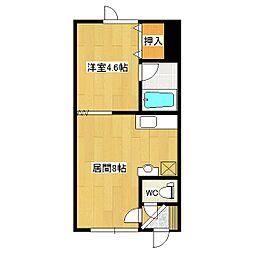 シャネルII[2階]の間取り