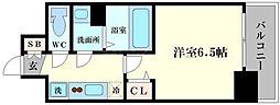 ララプレイス天王寺シエロ 3階1Kの間取り
