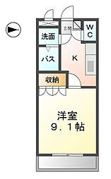 愛知県清須市清洲の賃貸マンションの間取り