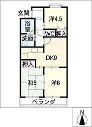 サンハイツK&I[3階]の間取り