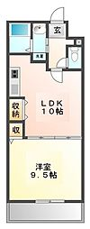 メープル甲子園[2階]の間取り
