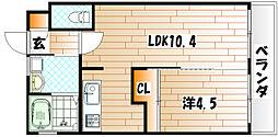 プラチナスタイル[3階]の間取り