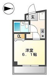 エツカ大曽根[4階]の間取り