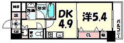 レジディア神戸磯上[10階]の間取り