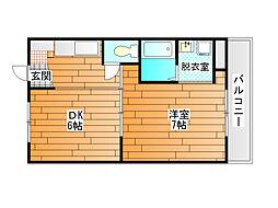 ヴィラナリー富田林 3号棟[4階]の間取り