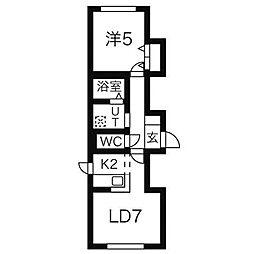 GLASS N21[4階]の間取り