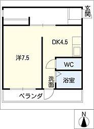 多恵第1ビル[3階]の間取り