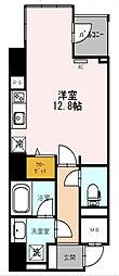 Osaka Metro四つ橋線 西梅田駅 徒歩3分の賃貸マンション 2階1Kの間取り