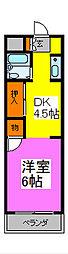 シャトール西川口[7階]の間取り