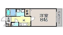 京都府京都市上京区中社町の賃貸マンションの間取り