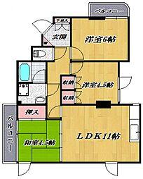 鷺沼シンセイマンション[201号室号室]の間取り