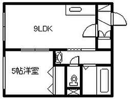 新築 マリオット6条[2103号室]の間取り