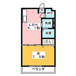 雁道ビル[2階]の間取り
