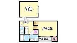 Prestige三宮東[2階]の間取り
