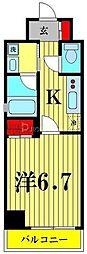 都営浅草線 本所吾妻橋駅 徒歩5分の賃貸マンション 7階1Kの間取り