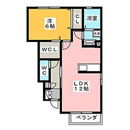 グレイスガーデン 椿[1階]の間取り