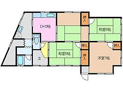[一戸建] 三重県津市香良洲町 の賃貸【/】の間取り
