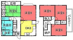 [一戸建] 滋賀県栗東市綣8丁目 の賃貸【/】の間取り