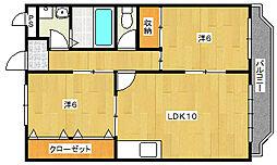 大阪府茨木市郡5丁目の賃貸マンションの間取り