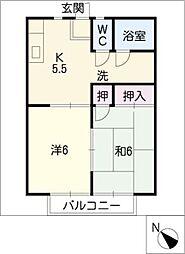 ホームキャロット[1階]の間取り