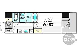エステムコート新大阪XIIIニスタ 9階1Kの間取り