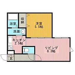 センプレピエーノ文京台[2階]の間取り