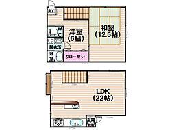 バナナアパート[1-2号室]の間取り