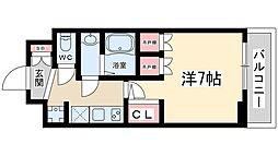 おおさか東線 JR淡路駅 徒歩5分の賃貸マンション 11階1Kの間取り