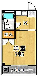 メゾンヒラオ[5階]の間取り