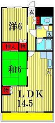 長谷川レジデンス[6階]の間取り