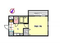 ハイムロングピーク[3階]の間取り