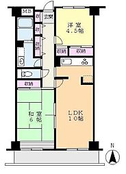 フレイスハイム2[5階]の間取り
