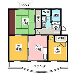 グリーンハイツ青葉台[4階]の間取り