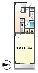 イルソーレ[4階]の間取り
