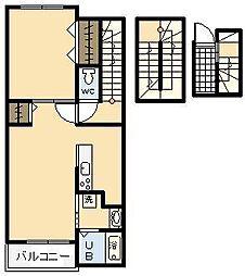 エテルノ宮 A[303号室]の間取り