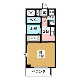 arte izumi[4階]の間取り
